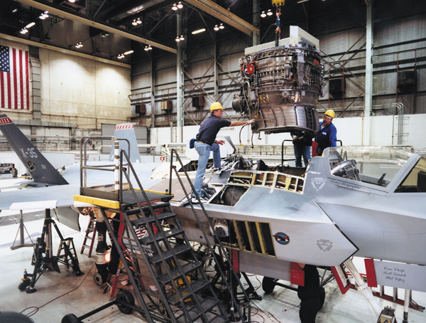 Instalation of lift fan unit to the F-35